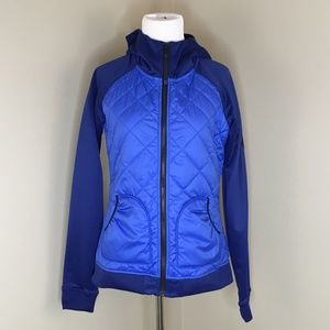The North Face Womens Small Hooded Jacket Blue